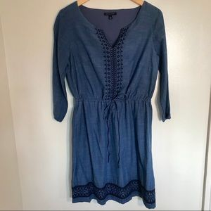 NWOT Tommy Hilfiger Embroidered Chambray Dress
